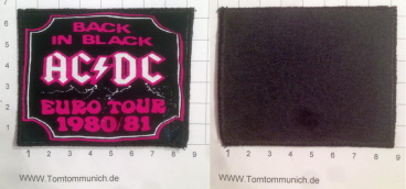 AC/DC Back in Black Tour Patch